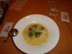 the creamy soupy spaghetti jellybean had - yummy
