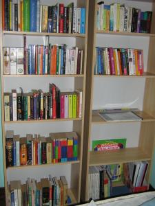 the reason for the change in my room - more space for my precious books!