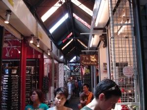 in one of the many sections of chatuchak market