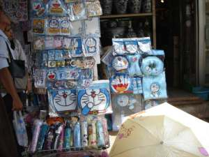 thailand is obsessed with doraemon, seriously... you see this cartoon character everywhere, literally!